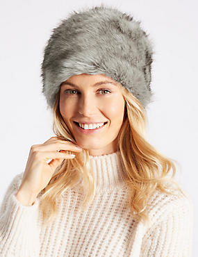 Fur Cossack Hat, GREY, catlanding