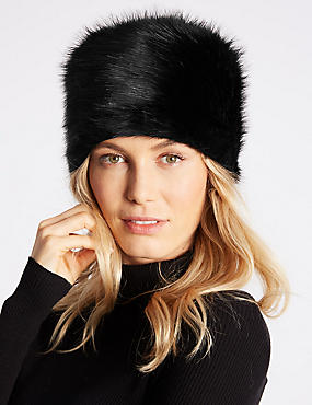 Fur Cossack Hat, BLACK, catlanding