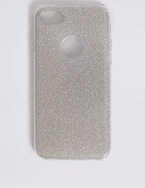 iPhone 7 Glitter Phone Case, SILVER, catlanding