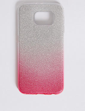 Samsung S6® Glitter Print Phone Case, PINK, catlanding