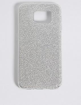 Samsung S6® Glitter Print Phone Case, SILVER, catlanding