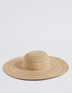 Metallic Floppy Hat, NATURAL MIX, catlanding