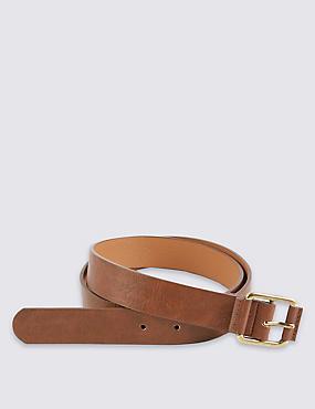 Faux Leather Casual Jeans Hip Belt, TAN, catlanding