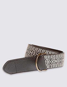 Embroidered Waist Belt, BLACK MIX, catlanding