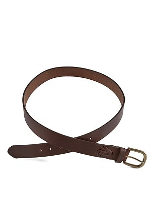 Leather Whip Stitch Belt, TAN, catlanding