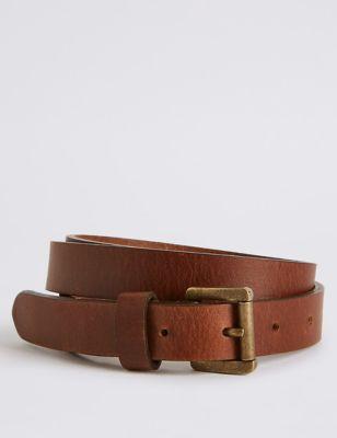 Кожаный ремень для джинсов M&S Collection T014705B