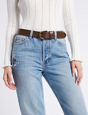 Leather Core Jeans Hip Belt, DARK CHOCOLATE, catlanding