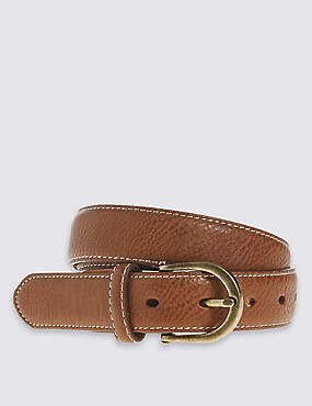 Faux Leather Casual Jeans Hip Belt, TAN, catlanding