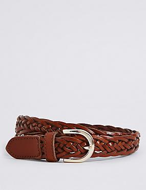 Leather Buckle Hip Belt, TAN, catlanding