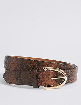 Faux Leather Hip Belt, NATURAL MIX, catlanding