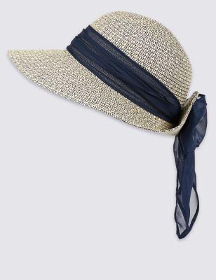 Шляпа летняя с отделкой шарфом от Marks & Spencer