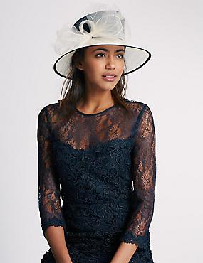 Nette hoed met strik , MARINE MIX, catlanding