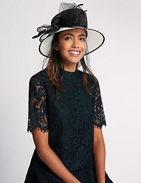 Nette hoed met strik , ZWART MIX, catlanding