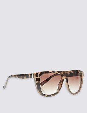 Rectangle Sunglasses, BROWN MIX, catlanding