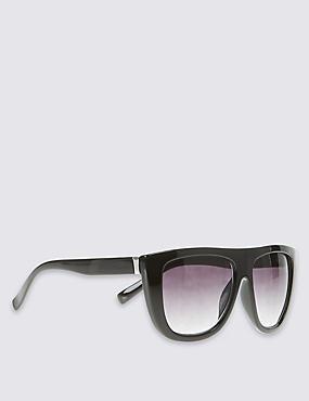 Rectangle Sunglasses, BLACK, catlanding