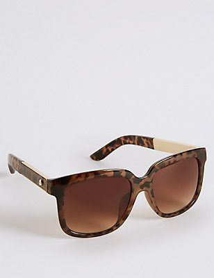 Oversized Sunglasses, BROWN MIX, catlanding