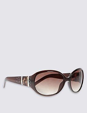 Oversized Sunglasses, BROWN MIX, catlanding