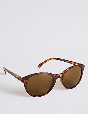 Preppy Cat Eye Sunglasses, BROWN MIX, catlanding