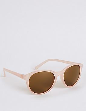 Preppy Cat Eye Sunglasses, PALE PINK, catlanding