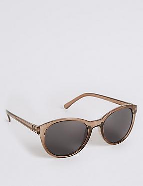 Preppy Cat Eye Sunglasses, GREY, catlanding