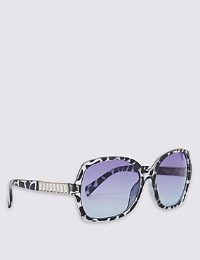 Bling Arm Oversized Sunglasses, BLUE MIX, catlanding