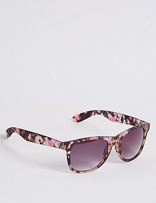 Print Wayfarer Aviator Sunglasses, BLACK MIX, catlanding