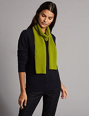 Pure Cashmere Scarf, WINTER LIME, catlanding