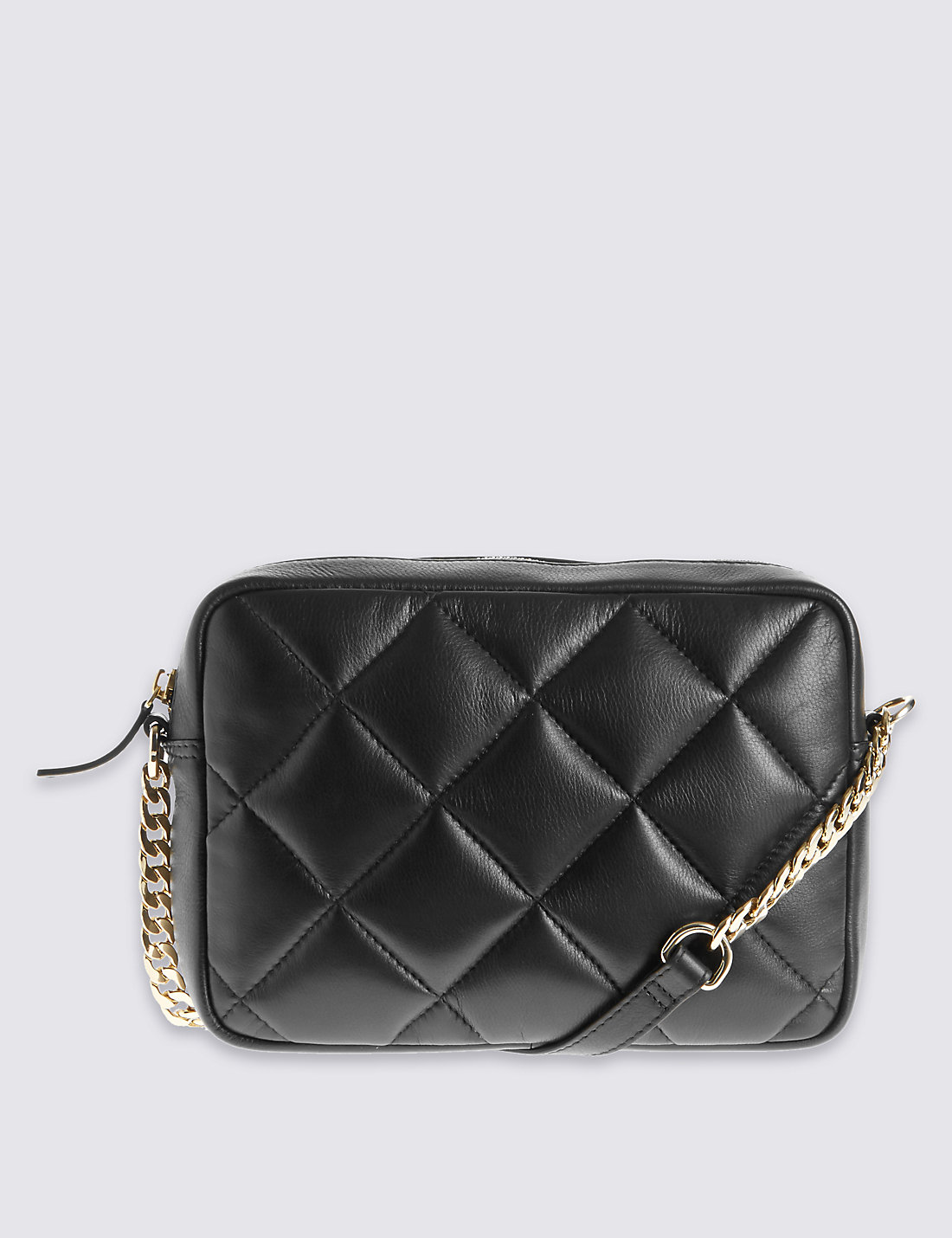 Leather quilted handbags and purses - Leather Across Body Quilt Bag