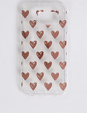 Samsung S6® Heart Print Phone Case, GOLD, catlanding