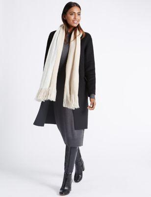 Классический шарф из ворсованного волокна M&S Collection T016221T