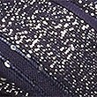 Sequin Embellished Striped Scarf, NAVY, swatch