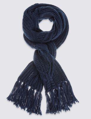 Шарф с косами и кисточками M&S Collection T016290T