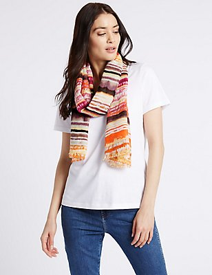 Striped Scarf, MULTI, catlanding