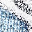 Cotton Rich Striped Tassel Scarf, BLUE MIX, swatch