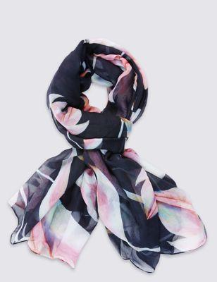 """Шарф """"Розовые цветы"""" M&S Collection T016366T"""