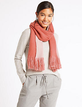 Double Brushed Scarf, CORAL MIX, catlanding