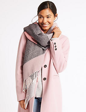 Checked Scarf, PINK MIX, catlanding