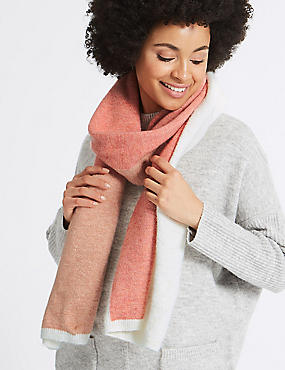 Big Block Scarf, CORAL MIX, catlanding