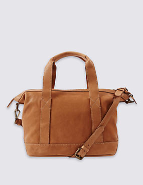 Leather Grab Shoulder Bag