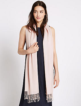 Modal Blend Scarf with Wool, BLUSH, catlanding