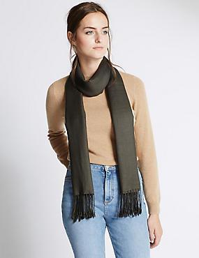 Sjaal van modalmix met wol, KAKI, catlanding