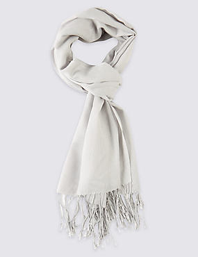 Modal Blend Scarf with Wool, , catlanding