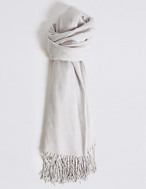 Modal Rich Pashminetta Scarf, LIGHT GREY, catlanding