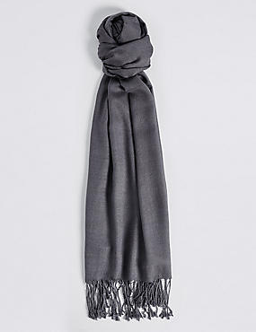 Modal Rich Pashminetta Scarf, CHARCOAL, catlanding