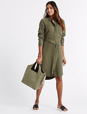 Faux Leather Tassel Shoulder Bag, KHAKI MIX, catlanding