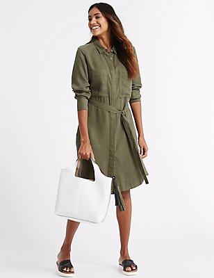 Faux Leather Tassel Shoulder Bag, WHITE MIX, catlanding