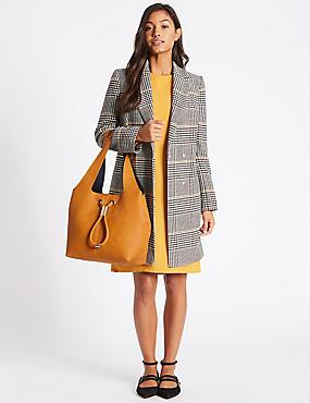 Faux Leather Hobo Bag, OCHRE, catlanding