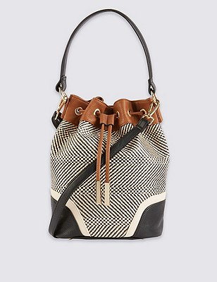 Weave Mix Duffle Bag, , catlanding