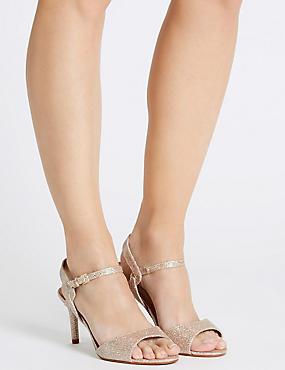 Stiletto Sparkle Sandals with Insolia®, METALLIC, catlanding