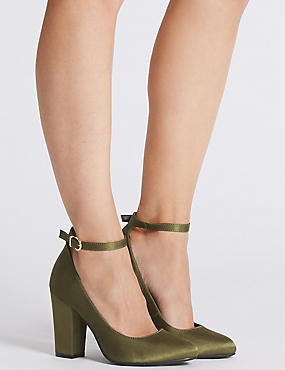Ankle Strap Court Shoes, GREEN, catlanding